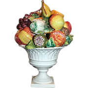 Vintage Italian Ceramic Fruit Centerpiece