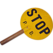 Vintage Stop Sign Hand Held 2 sided wood