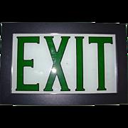Vintage Reverse Painted EXIT Sign Framed