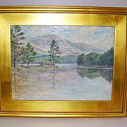 Impressionist Oil on Wood Panel Pastel Color Landscape
