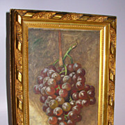 Still Life Painting of Grapes Signed G W Whitaker