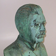 Antique Bronze Bust Signed D B Sheahan NY 1891 Listed Artist