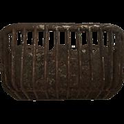 Old J W Fiske NY Iron Feed Basket / Barn Basket