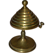 Victorian Brass Beehive Style Desk or Store Bell