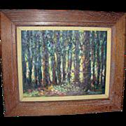 Impressionist Oil on Board Signed Golo Titled Black Forest