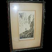 Fine Art Etching Signed Stevenson Titled The Prospective