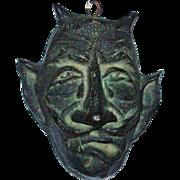 Heavy Bronze Devil Sculpture