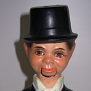 Vintage Charlie McCarthy Pull String Composition Puppet Doll
