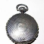 Antique English Sterling Vinaigrette Locket Rare Form