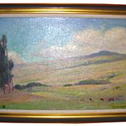 Duncan Smith Impressionist Landscape Oil on Canvas Signed