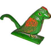Antique Cast Iron Bird Nut Cracker w/ Original Paint