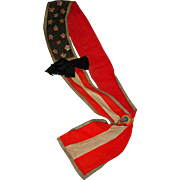 Early 20th c. Patriotic Sash Possibly Women's Suffrage?