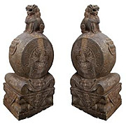 Pair for Chinese Stone Sculptures