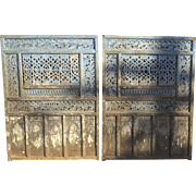 Pair of Carved and Painted Panels