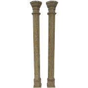 "Pair of American Octagon Tall Columns 93"" Tall"