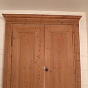 English Pine Two Door Built in Cabinet Doors