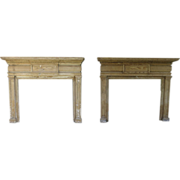 SOLD Pair American Pine Fireplace Mantels
