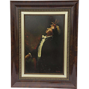 Vintage Painting Oil on Canvas Maestro by Steven Shortridge.