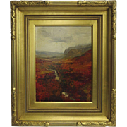 "Vintage Oil on Canvas ""After the Rain""  Scottish Highlands by Steven Shortridge"
