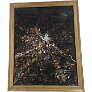 SOLD Abstract Oil on Canvas by G. Goldberg Signed and Dated 1960