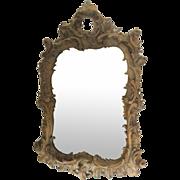 Mirror Heavily Carved Walnut Rococo Style.