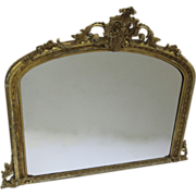Turn of the Century Gilt Over Mantel Mirror