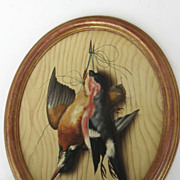 A trompe l'oeil with two Bird by Michelangelo Meucci 1877