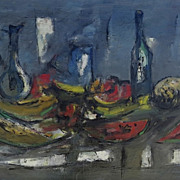 Oil on Canvas By Jaime Oates Still Life 20th Century