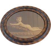 Turn of the Century Baby Photo in Large Faux Finish Frame