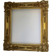 19th Century Gilt Gesso Wood Mirror Rectangle