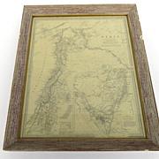 Vintage Framed Map of Syria