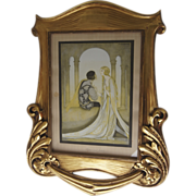 Art Nouveau Carved Gilt Frame