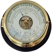 SOLD Vintage Schatz Marine Ship's Barometer