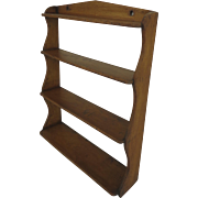 English Narrow Wall Shelves Book Display Tiered 19th Century
