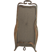 Art Nouveau Easel Back Picture Frame Great Patina