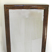Early English Walnut Mirror with Original Plate 18th or Early 19th Century