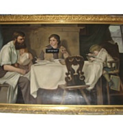 Oil on canvas by A D Cooper. Gilt frame.