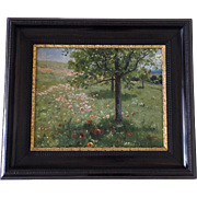 Oil on Canvas by Hermann  Herman Hartwich Signed Landscape