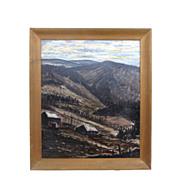 Oil on Canvas Mountain Scene by Dibble.