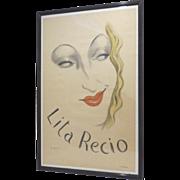 Original Vintage Poster Lita Recio by Jean Karquel