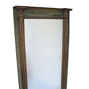 Beautiful French Empire Painted and Gilt Mirror