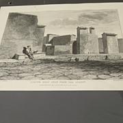 Engraving of Pompeii Major Cockburn