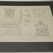 Engraving of Pompeii Temple of Mercury