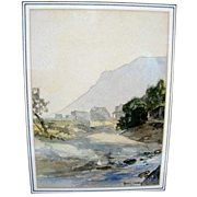 Watercolor by Harvey Otis Young