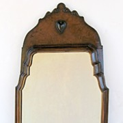 Queen Anne Style Mirror with Heart