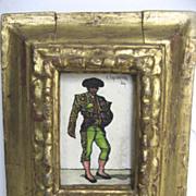 Oil on Board of Matador by Keith Ingermann (American b.1929) Gilt Rococo Frame