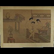 Chinese Erotic Album of Paintings C 1900