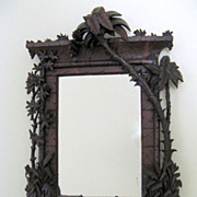 SOLD Fabulous Fantasy Carved Mirror Palm Trees