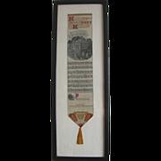 Framed Ribbon Book Mark Home Sweet Home Lyrics Tassel Music Notes