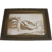Italian Ruins Ink and Wash